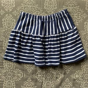 Gymboree Navy Blue & White Stripped Skirt, Size 4